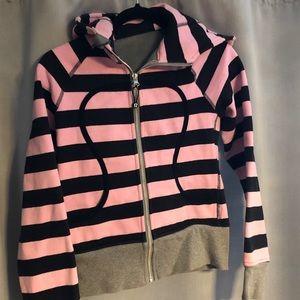 *RARE* Lululemon striped scuba hoodie